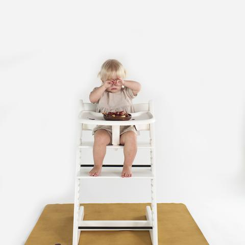 Gathre High Chair Mat- A lifesaver for those with food throwing toddlers!
