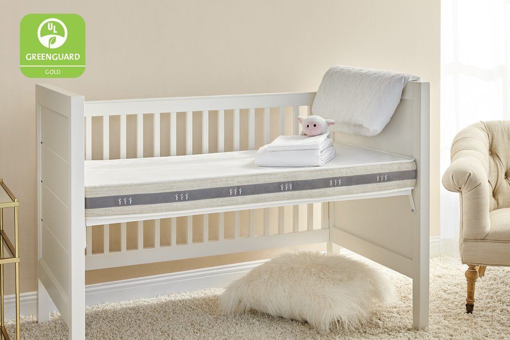 Non-toxic 2-stage crib mattress: Brentwood Home