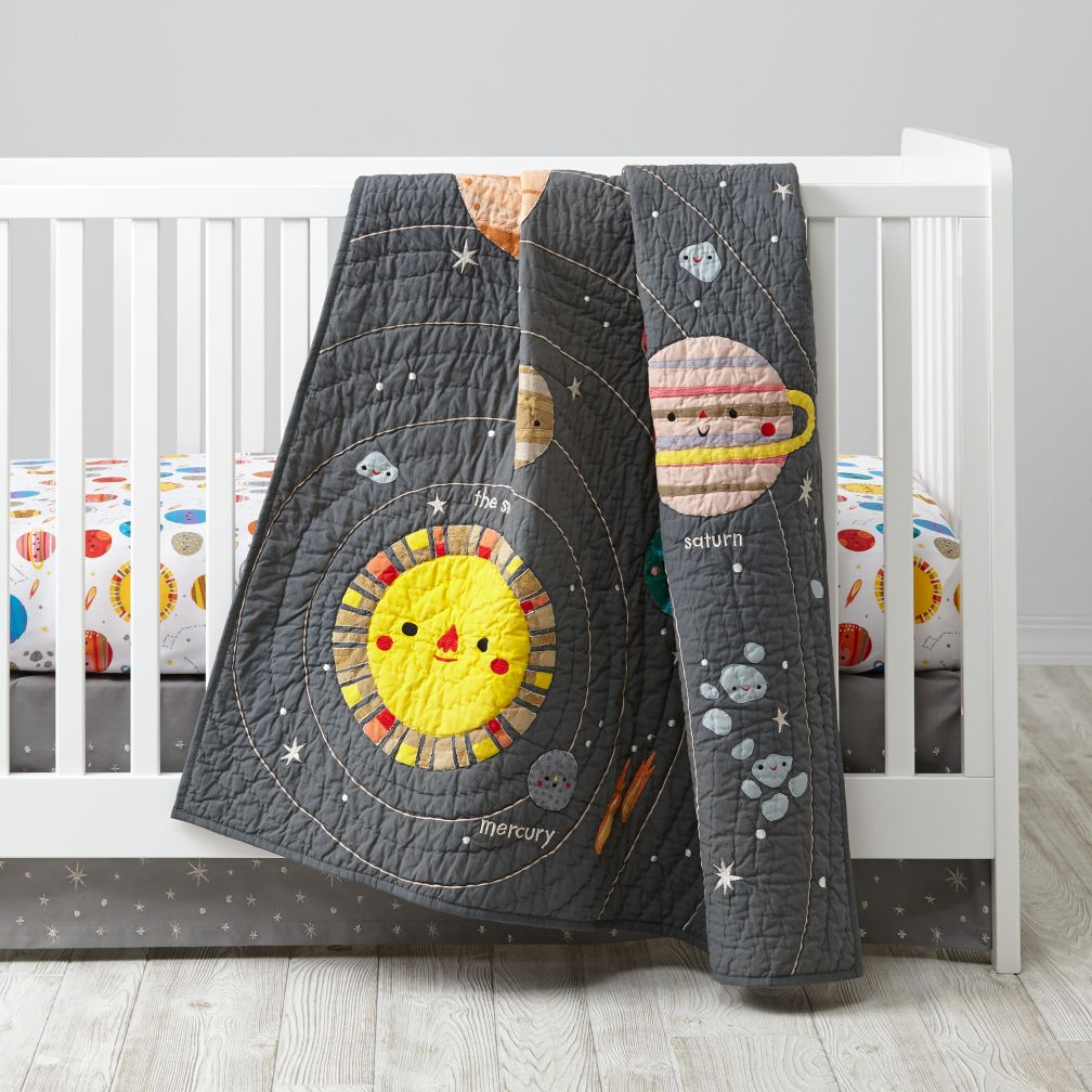 Land of Nod Deep Space Baby Quilt- For your future astronaut