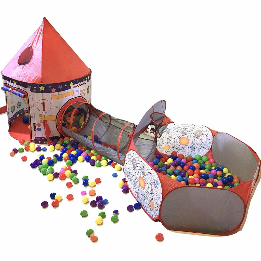 *HOLIDAY DIGEST PICK FOR FOLD AWAY* Playz Tent, Tunnel, and Ball Pit: Astronaut themed fun
